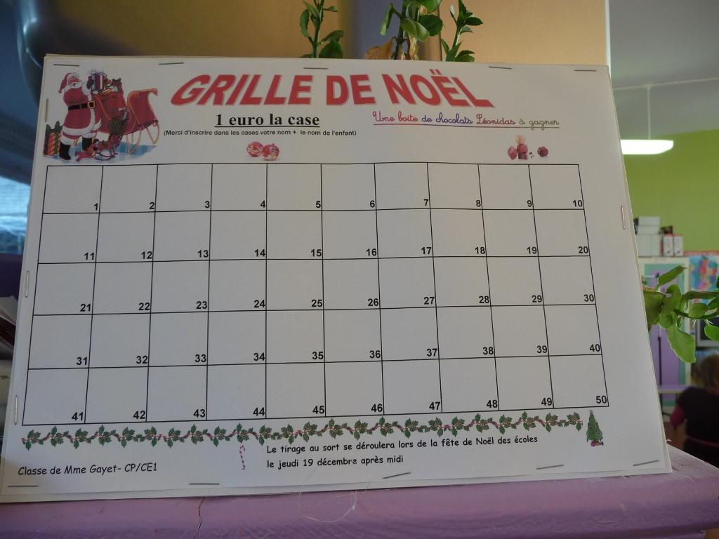 Ecole primaire de maretz blog archive les grilles de no l - Tirage au sort cadeau de noel ...